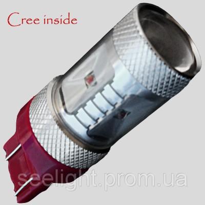 Светодиодная  лампа в задние фонари, под цоколь Т20(7443) Cree30W 9-30V-Красная
