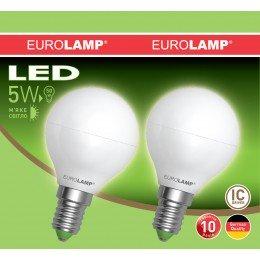 Промо-набор LED Лампа EUROLAMP EKO G45 5W E14 3000K