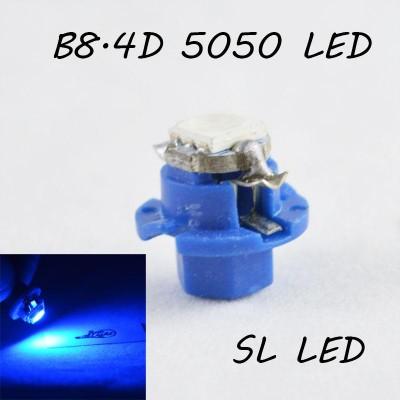 LED лампа в подсветку приборной панели, цоколь B8.4D SL LED синий