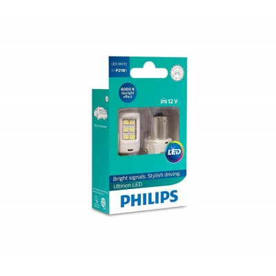 Светодиодные лампы P21W Philips 11498ULWX2 Ultinon LED (White)