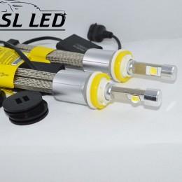 Комплект LED ламп в головной свет серии SLP70 Цоколь H11, H8, H9, 48W, 6600 Люмен/Комплект