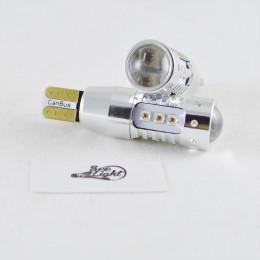 Светодиодная авто лампа  SLP LED с цоколем T10 (W5W) Cree 80W Canbus 9-30V Янтарный Желтый