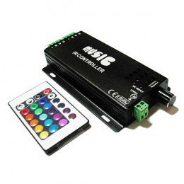 Музыкальный контроллер для LED ленты RGB IK-управление 24 кнопок 120 ВТ. звукочувствительный