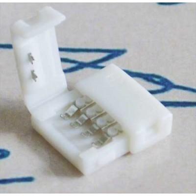 Разъем(коннектор) для RGB светодиодной ленты 10мм. защелки с двух сторон