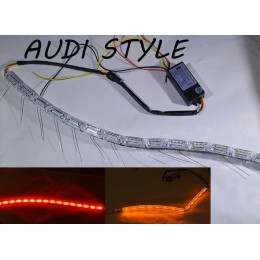 Гибкие габариты SL LED, стиль Audi, с динамическим указателем поворота, длина от 50 до 75 см.