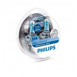 Галогенная лампа H4 Philips 12342WVUSM WhiteVision ultra +60%