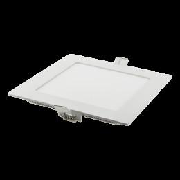 Светодиодный светильник встраиваемый 12W Серебро, квадрат, 4100K