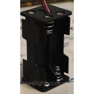 Кассета для 4 батареек типа АА куб