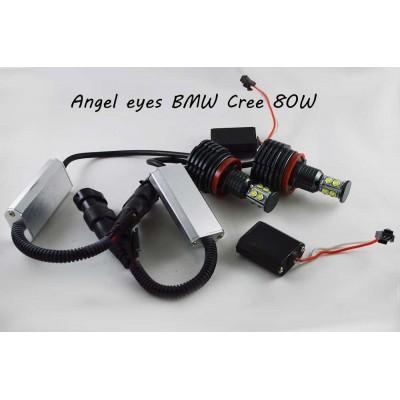 Светодиодные лампы (ангельские глаза) BMW 80W  1000 LUMEN