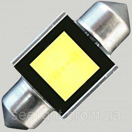 Светодиодная автомобильная лампа в подсветку  SV8,5(C5W)-31mm-2W-COB