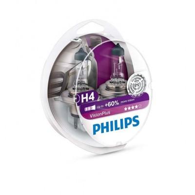 Галогенная лампа H4 Philips 12342VPS2 VisionPlus +60%