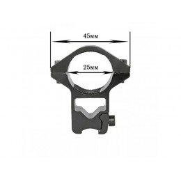 Крепление на оружие для фонаря 25 GZ (планка Вивера 10 мм)