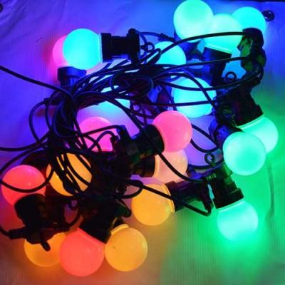 Led гирлянды, белт лайт SL LIGHT шар G50  10 метров 20 ламп разноцветные, молочная колба
