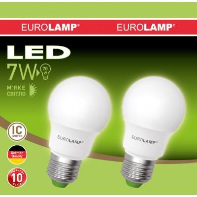 Промо-набор LED Лампа EUROLAMP EKO A50 7W E27 3000K