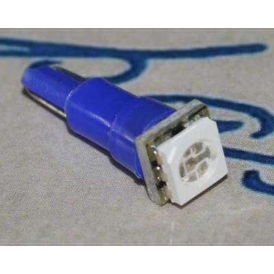 Светодиодная автомобильная лампа в панель приборов с цоколем Т5 5050 Синий