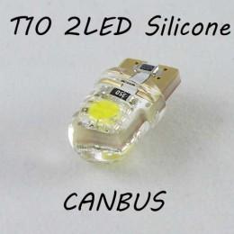 Лед лампа в габарит SLS LED, с обманкой Can шины, цоколь W5W(T10) 2 светодиода в силиконе 12 В. Красный