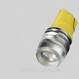 Светодиодная лампа в повторитель поворота T10(WY5W) 2W  9-30V-Желтый-Линза
