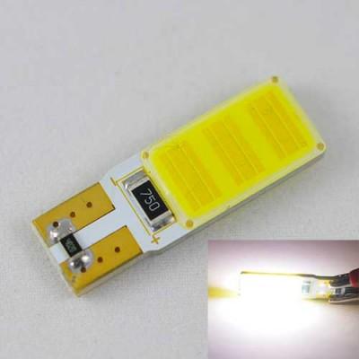 Светодиодная автомобильная лампа SL LED Цоколь T10 (W5W) с обманкой компьютера 12С COB 3W Белый