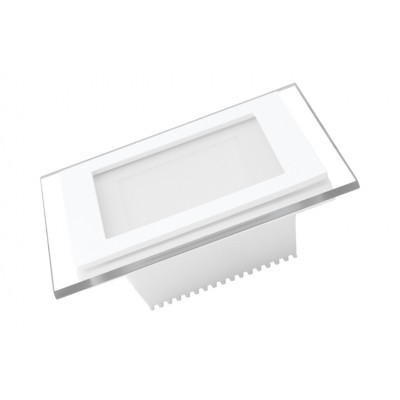 LED Светильник EUROLAMP квадратный GLASS Downlight 6W 4000K