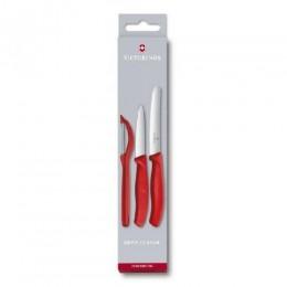 Набор кухонный Victorinox SwissClassic Paring Set 3шт с  красной ручкой (Vx67111.31)