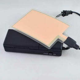 Электролюминесцентная панель (EL панель) 90*65 мм. Цвет Белый