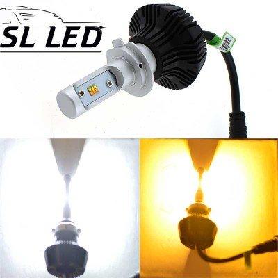 Комплект LED ламп 6000K/3000K в основные фонари серии G7 Цоколь Н7, 24W, 4000 Люмен/Комплект