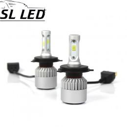 Установочный набор LED ламп в основные фонари SLP S2-LED Цоколь H4, 35W, 5000 Люмен/Комплект