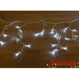 """Гирлянда светодиодная уличная """"Бахрома"""" 100ламп (LED) 7 мм. белый кабель белый холодный свет, уличня (каучук)"""