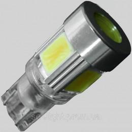 Светодиодная автомобильна лампа в габарит с цоколем T10 (W5W) (W2,1x9,5D) 9W COB 9-16V 5500K