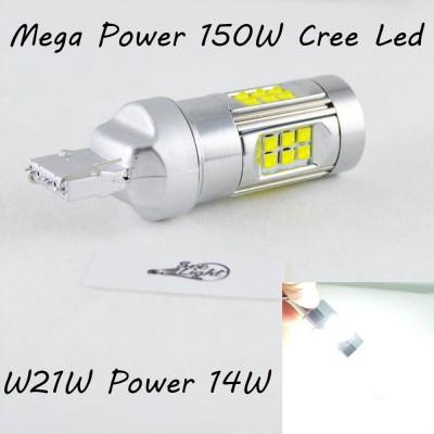 Светодиодная лампа SLP LED Cree в задний ход автомобиля с цоколем 7440(T20,W21W)  150W 9-30V 1400lm Белый