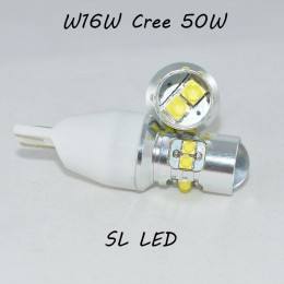 Светодиодная LED лампа SL LED с цоколем T15(W16W)-Cree-50W-в фонарь заднего хода