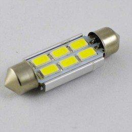 Светодиодная  лампа SLS LED с обманкой компьютера под цоколь SV8,5(C5W) 39mm 6-5630 Белый