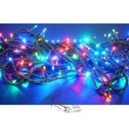 Гирлянда светодиодная 300ламп (LED) черный провод. Цвета светодиодов: синий, белый, микс(разноцветный).