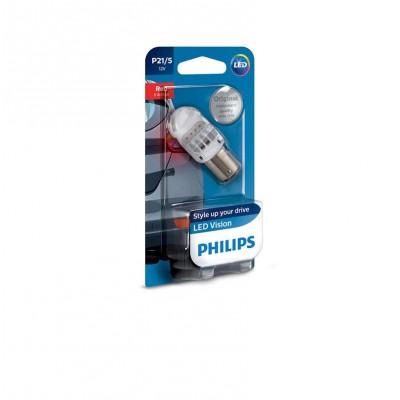 Лампа светодиодная Philips P21/5 RED 12V, 1шт/блистер