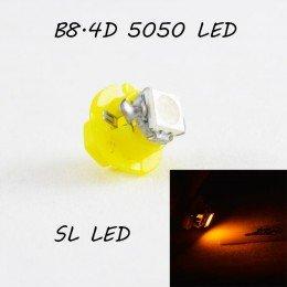 LED лампа в подсветку приборной панели, цоколь B8.4D SL LED желтый