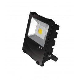 LED Прожектор EUROELECTRIC COB черный с радиатором 30W 6500K modern