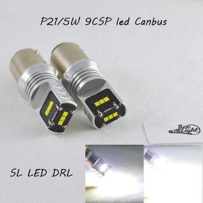 Светодиодная лампа с обманкой, SL LED, Цоколь BA15D(1157)(P21/5W), 9 LG CSP LED, 45W Белый