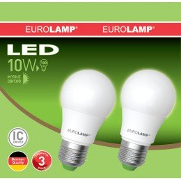 Промо-набор LED Лампа EUROLAMP EKO A60 10W E27 3000K