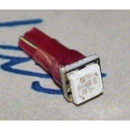 Светодиодная автомобильная лампа в панель приборов с цоколем Т5-5050-1 Красный