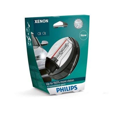 Ксеноновая лампа D4S Philips 42402XV2S1 X-tremeVision gen2 +150% (блистер)