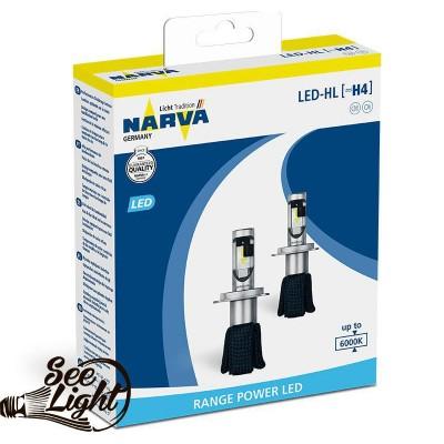 Led авто лампа Narva, цоколь H7 (PX26d), 180053000, 16W,  6000K, комплект