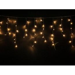 Гирлянда Мини штора (Icicle) 3м х 0, 5м, БЕЛЫЙ КАБЕЛЬ ПВХ, 100 светодиодов, Теплого белого цвета свечения