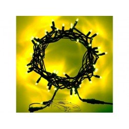 """Гирлянда уличная """"Нить"""" (String) 200LED 15м жёлтая, чёрный провод (каучук), светодиодная"""