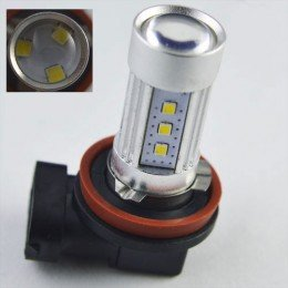 Автомобильная светодиодная лампа SLP LED с цоколем Н11/H8 в противотуманные фонари Samsung 15W  Линза