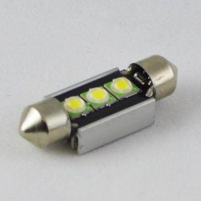 Светодиодная лампа SLP Led с встроеной обманкой бортового компьютера SV8,5(C5W)-36mm-9W  LED Белый
