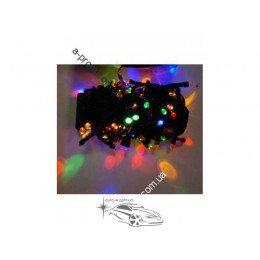 Гирлянда светодиодная линза 400ламп (LED). Цвета светодиодов: белый, синий, микс (разноцветный), розовая. Провод: чёрный.