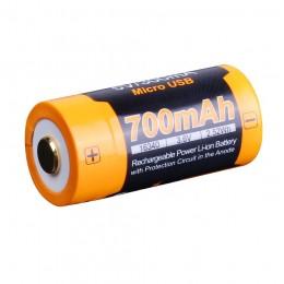 Акумулятор 16340 Fenix 700 UP mAh Li-ion micro usb зарядка