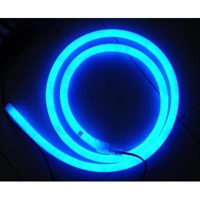 Светодиодный неон SL FLEX ( Неон Флекс, FlexNeon) 8*16 мм. 120-2835 220V Синий