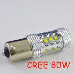Светодиодная лампа SLP LED Cree в задних ход автомобиля с цоколем 1156(BA15S,P21W)  80W 9-30V 1100lm Белый