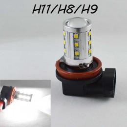 Автомобильная LED лампа SL LED  в противотуманные фонари Цоколь H11/H8/H9 22W Линза, 6000K